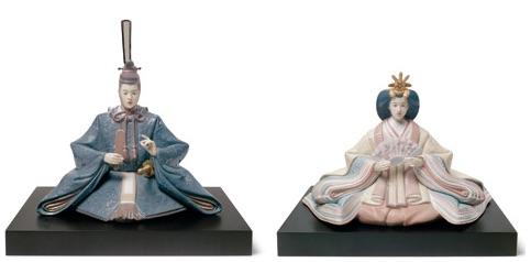 リヤドロの雛人形・親王飾り