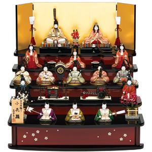 木マンションでも飾れる、コンパクトな十五人飾りの雛人形