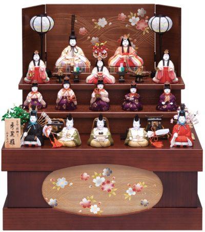 マンション住まいの方におすすめ、人気の収納飾りの雛人形