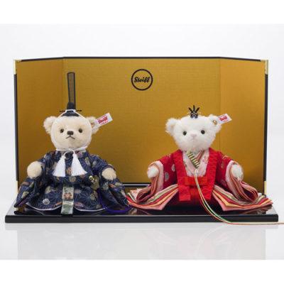 かわいすぎる♡シュタイフ社の日本限定 テディベアひな人形