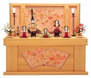 収納飾りの雛人形