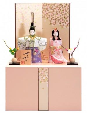 木村一秀作の立雛。かわいい、小さい人気の雛人形